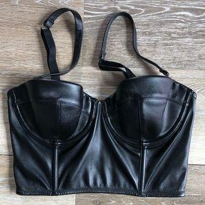 VICTORIAS SECRET Faux Leather Bra